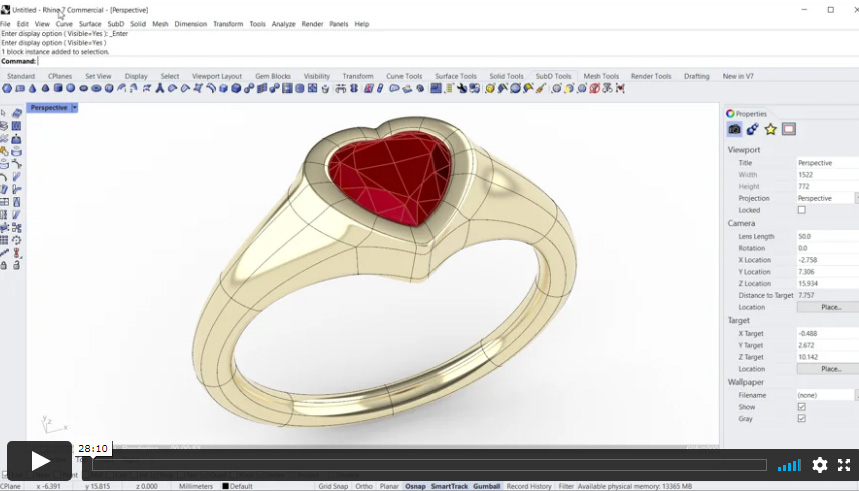 SubD Heart Ring