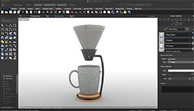 Kaffeemaschine in Mac