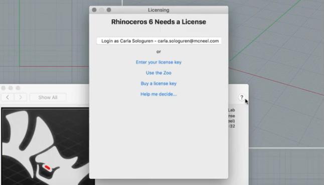 Lizenzoptionen für Mac