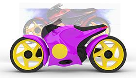 Konzeptmotorrad im Zeitraffer