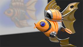 Aufziehfisch im Zeitraffer
