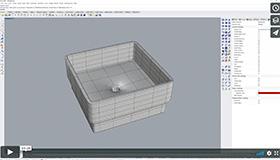 Modellierung eines Waschbeckens