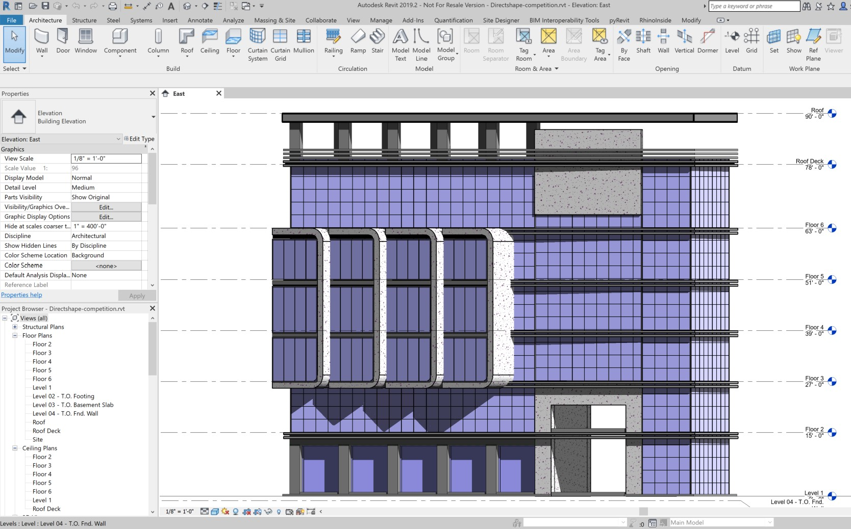 A Quick Elevation in Revit