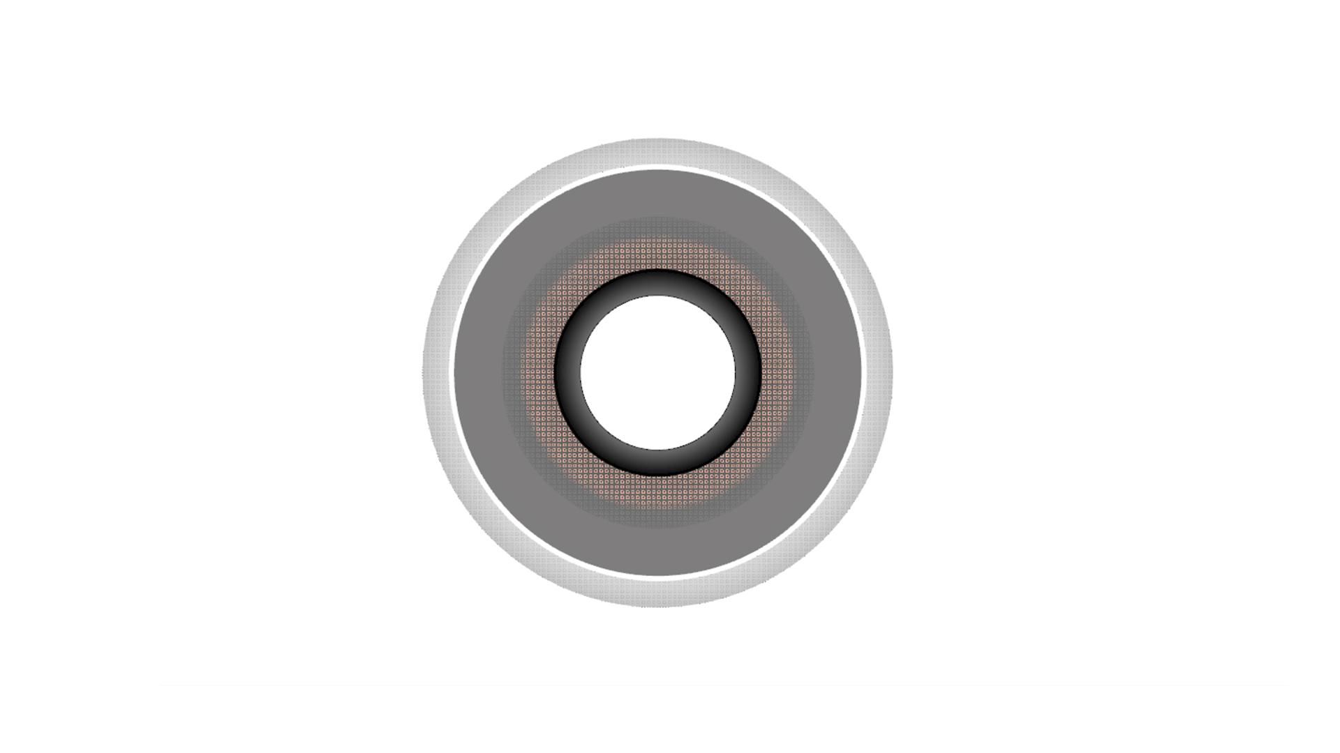 グラデーションと透明度を適用したハッチング